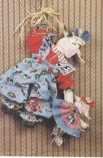 Pattern- Primitive Folk Art Cow & Baby Doll-Sweet & Fun! Needle In A Haystack