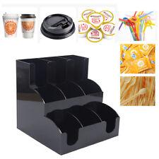 9 Grids Coffee Tea Stand Station Condiment Organizer Cup Holder Storage Box Usa