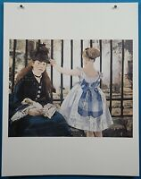 "Edouard Manet ""Gare Saint-Lazare"" Lithograph French Impressionist Masterpieces"