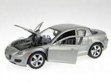 Mazda RX-8 RX 8 silver grey diecast model car 73323 Motormax 1/24