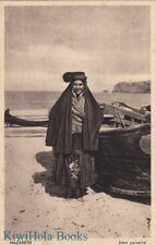 Postcard Woman Traditional Dress Nazareth Israel