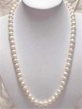 """Fashion Natural 7-8mm White Akoya Cultured Pearl Necklace 25"""""""