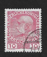 Austria  The 60th Anniversary of the Reign of Emperor Franz Josef 1 10 H  (bx)