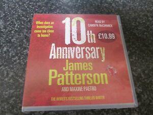 JAMES PATTERSON - 10th ANNIVERSARY - 4 CD AUDIO BOOK SET