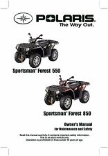 Polaris Owners Manual Book 2011 SPORTSMAN Forest 550