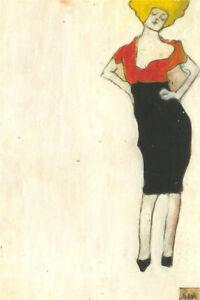 Ben Carrivick - Contemporary Oil, Posing in Black Skirt