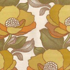 Vintage Original  Perfect Iconic Vintage Colors Mid Century Floral Wallpaper