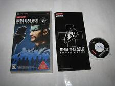 Metal Gear Solid Portable Ops Plus Playstation PSP Japan import US Seller