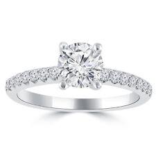 1.10 ct Ladies Round Cut Diamond Engagement Ring in 14 kt White Gold