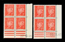 Timbres français neufs de 1941 à 1950 rouge