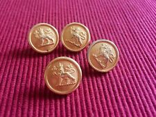 4 Canadian Military Post-Unification Brass Button Canadian Buttons Limited