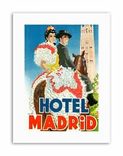 ANDALUSIA HOTEL MADRID SEVILLE SPAIN FLAMENCO Poster Travel Canvas art Prints