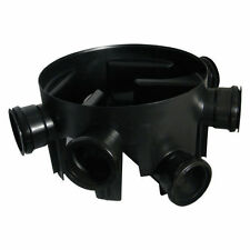 450MM DIA.X 270MM DEEP UNDERGROUND DRAINAGE CHAMBER BASE - 5 x 110MM FIXED INLET