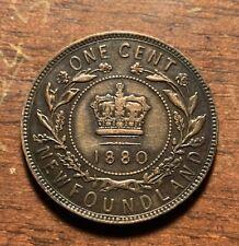 1880 Newfoundland one cent - nice details