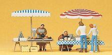 Preiser 10052 H0 Figuren 1:87 - Marktstände. Fertigmodell - NEU in OVP