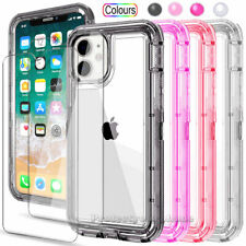 Crystal Case with Screen Protector For iPhone SE 2 11 Pro XS Max XR 8 7 6 Plus