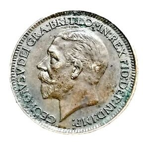 UK /George V 1926 1 Farthing Bronze Coin Uncirculated