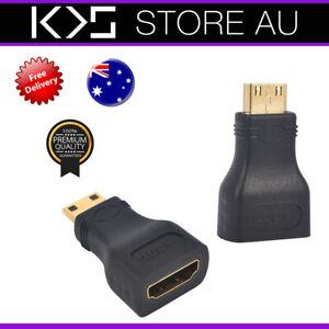 Mini HDMI Male to HDMI Female Adapter Adaptor Converter Changer - AUS Seller