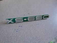 NOS 1970 Yamaha XS650 XS1 Emblem Candy Green 256-21786-00