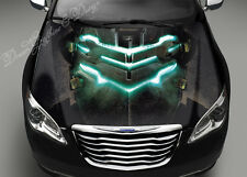 Neon Space Hood Color Graphics Adhesive Vinyl Sticker Wrap Decal Fit any Car 069