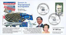 """PE443 FDC European Parliament """"Visit SHUI-BIAN & Mrs SHU-CHEN, China"""" 11-2001"""