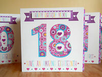 Personalised birthday special age card Female birthday 18th 21st 30th 40th 50th