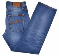 Nudie Made in ITALY Average Joe Organic Perfect Blue Cotton Denim Jeans 30 x 28