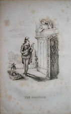 1827 la muerte está viendo la serenata amantes y esqueleto Richard dagley Grabado