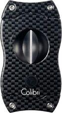 COLIBRI Zigarrenschneider V-Cut schwarz/Carbondruck 23 mm 7 mm Kerbschnitt NEU