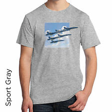 Blue Angels T-Shirt Fighter Jets Flying off the shirt, 3d effect 1121