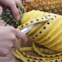 Edelstahl Ananas Peeler Slicer Cutter Obst Messer Gabel Gemüse Werkzeug Mode