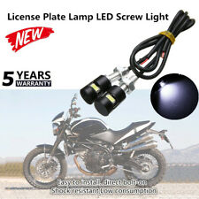 Motorcycle Bulb Bolt License Plate SMD Fantastic Lamp LED Screw Car 12V Light 2x