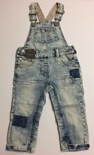 NEW Baby Girl Mid Blue Dungarees Age 1,5 -2 Years 18-24 Months NEXT