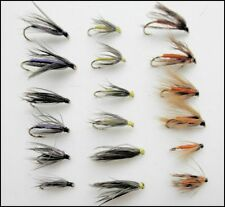 Wet Flies, 18 Partridge & Orange, Snipe & Purple, Yellow Dove, For Fly Fishing