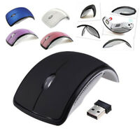 Ultrathin Foldable Wireless Arc Mouse with Mini USB Receiver for Pad PC Laptop