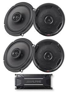 """ALPINE KTA-30FW 600 Watt 4-Channel Amplifier Amp+(4) MTX Thunder 6.5"""" Speakers"""