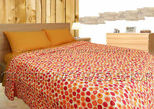 TRAPUNTINO MATRIMONIALE COTONE MADE ITALY QUILT COPRILETTO PIAZZE POIS 6TNMP2