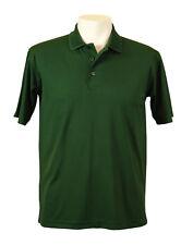 New! Mens XL AKWA 1312-DNP Moisture Wicking Polyester Polo Hunter Green