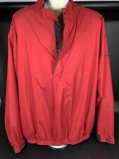 Dryjoys by Footjoy Windbreaker Golf Jacket Cranberry Red 3 Season Men's Xxl