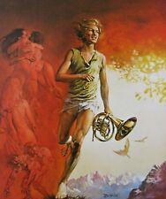 DAVY Boris Vallejo Vintage Art 1964 Boy Trumpet Cutoffs Fantasy Edgar Pangborn