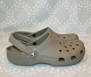 Crocs Classic Khaki Taupe All-Terrain Comfort Slip On Roomy Clogs  Men's Size 12