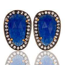 Handmade Gold Plated Bridal Women's Stud Earrings Wedding Fashion Jewelry