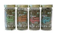 McCabe Organic Crushed Herbs(4Pack)(Crushed Basil,Mexican Oregano,Rosemary,Mint)
