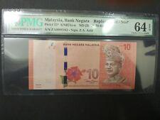 ZA 0008161 Low Number RM10 Zeti PMG 64 EPQ Malaysia
