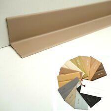 Scheuerleiste PVC Weich - Sockelleiste Knick Profil Kunststoff Sockel 3cm / 3cm