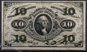 USA Fr 1256 10 Cents 3rd Issued 1864-69 VF Rare