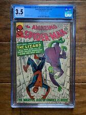AMAZING SPIDER-MAN #6 Marvel 11/63 CGC 3.5 Origin & 1st Appearance of the Lizard
