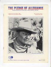 JOHN WAYNE MOVIE STAR PATRIOTIC Sheet Music 1972 Pledge Of Allegiance U.S. FLAG