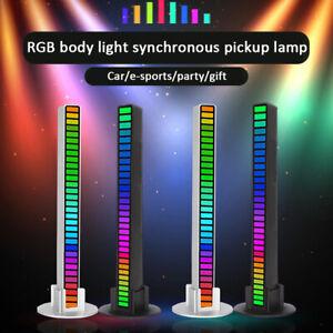 USB Powered Bar Music Control Rhythm Lamp 32 LED RGB Car Atmosphere Light Strip