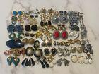 Lot of 50 All Signed Designer Clip Earrings: Trifari Monet Kramer Hobe many more